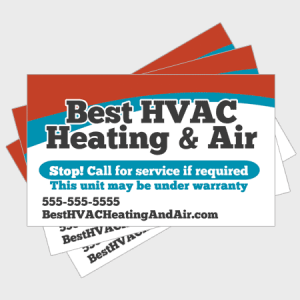 Wave HVAC Sticker