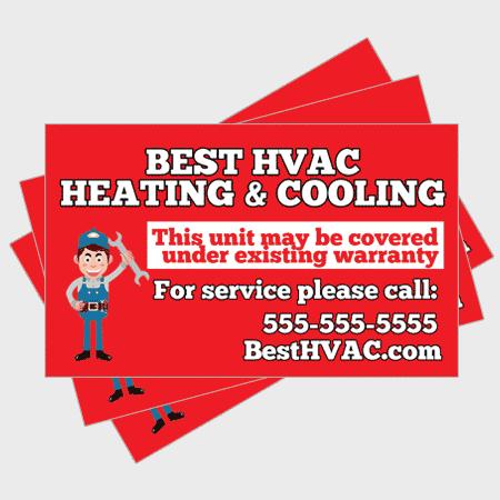 Simple HVAC Sticker