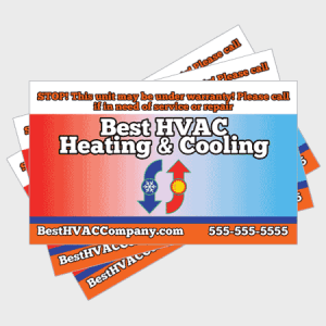 Hot and Cold HVAC Sticker