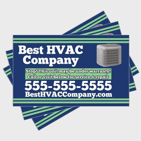 Relax HVAC Sticker