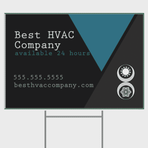 Triangles HVAC Yard Sign