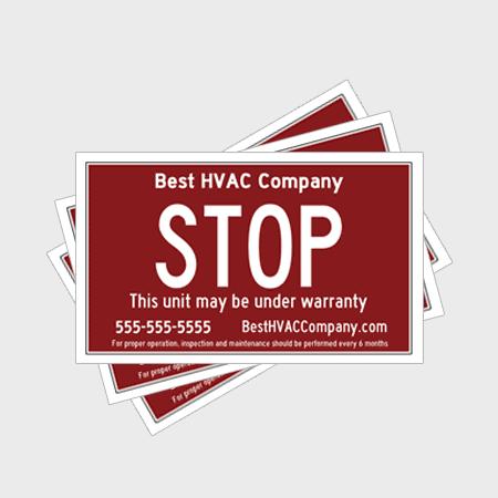 Stop HVAC Stickers