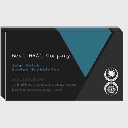 Triangles HVAC Business Cards