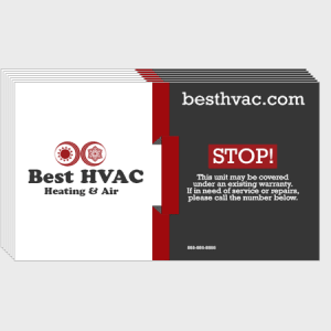 Ribbon HVAC Business Cards