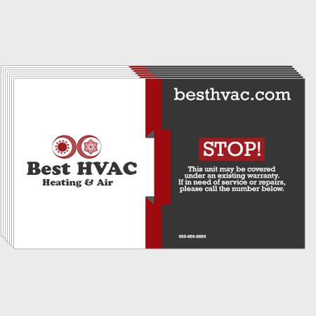 Ribbon HVAC Business Cards