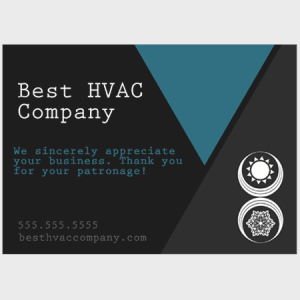 Triangles HVAC Thank You Card