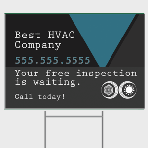 Inspection HVAC Yard Sign - Inspection