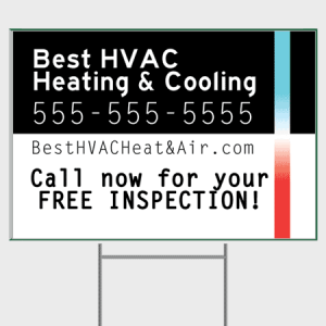 Blacklight HVAC Yard Sign - Inspection