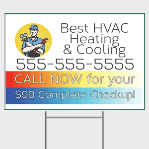 Subdued HVAC Yard Sign - Checkup
