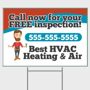 Wave HVAC Yard Sign - Inspection