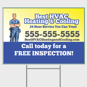 Trusted HVAC Yard Sign - Inspection