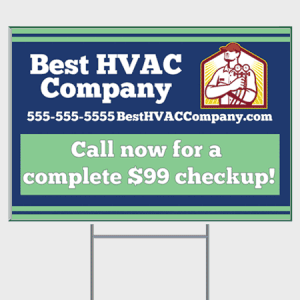 Relax HVAC Yard Sign - Checkup