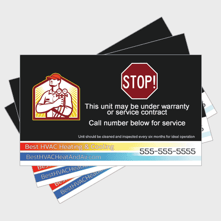 Subdued HVAC Sticker - Stop