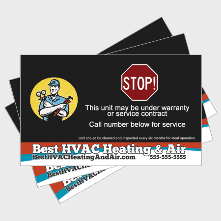 Wave HVAC Sticker - Stop