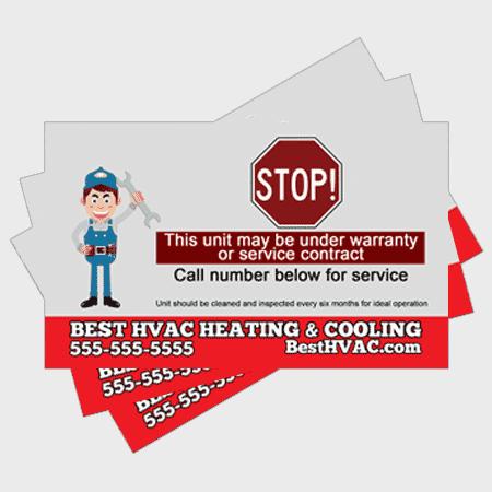 Simple HVAC Sticker - Stop