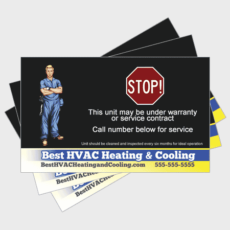 Trusted HVAC Sticker - Stop