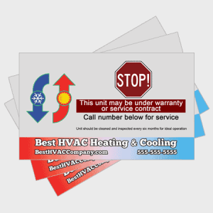 Hot and Cold HVAC Sticker - Stop