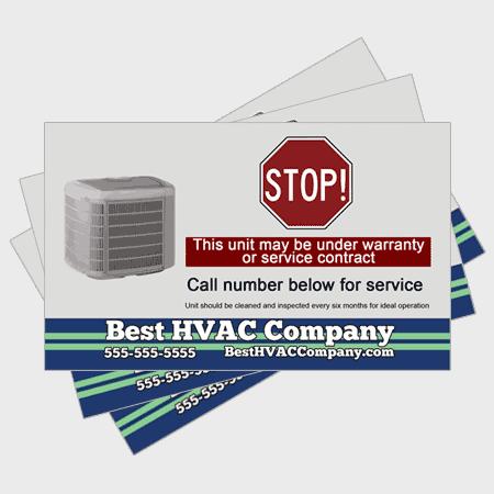 Relax HVAC Sticker - Stop