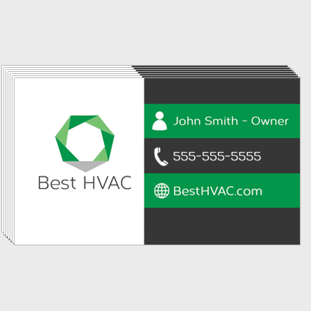 Green HVAC Business Cards