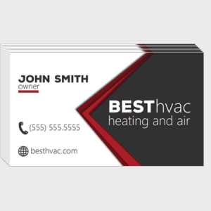 Pointed HVAC Business Cards