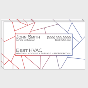 Fractal HVAC Business Cards
