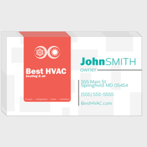 Sandy HVAC Business Cards