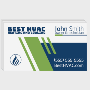 Stripes HVAC Business Cards