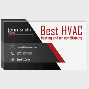 Wedge HVAC Business Cards