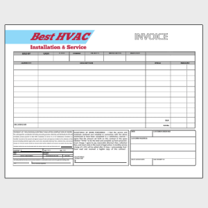 HVAC Sales Invoice