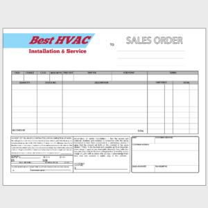 HVAC Order Form