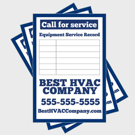 Blue-Log-HVAC-Sticker