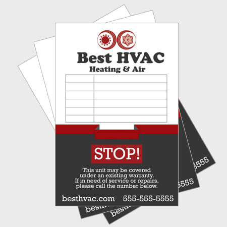 Ribbon-Log-HVAC-Sticker